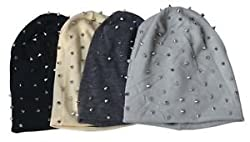 Krystle Spike Studs Beanie 4 Colors (Pack of 4)