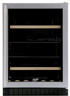 Luxury 14 Bottle Dual Zone Built-In Wine Refrigerator Finish: Black, Hinge Location: Left