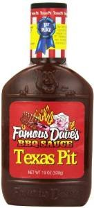 Famous Dave's BBQ Sauce Texas Pit, 19-Ounce (Pack