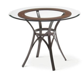 Simple Amisco Kai Round Glass Top Dining Table