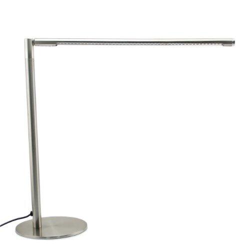 Yorbay-LED-Tischlampe-48-SMDs-Schreibtischlampe-3W-Dimmbar-verchromt-Warmwei-TV-GS-geprfter-Netzteil