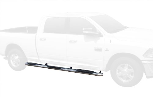 TYGER 5'' Bend Wheel-To-Wheel Side Step Bars Fit For 10-15 Dodge Ram 2500 / 3500 Crew Cab With 6.5' Standard Bed (2pcs W2W WTW Running Boards with Mounting Bracket Kit) (Standard Weight Bar 5 Feet compare prices)