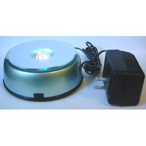 4 Led Light Stand Turntable Night Light Rotating Base For Laser Crystals Colored