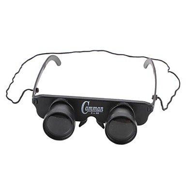 Gt 3X28 Binoculars For Fishing (Eyeglass Style With Nylon Cord)