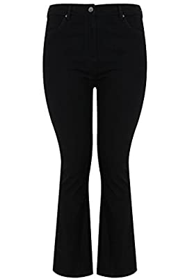 Yoursclothing Plus Size Womens Shaper Bootcut Jeans