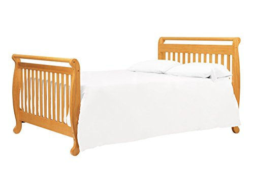 Davinci Twin Full Size Bed Conversion Kit Honey Oak