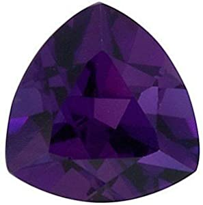 Trillion Shape Genuine Amethyst Loose Gemstone, Quality Grade, AAA 1.93 carats 9.00 mm