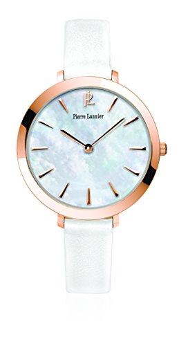 Pierre Lannier 004D990 - Orologio da polso donna, pelle, colore: bianco