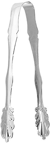"""Elegance Silver 86242 Silver Plated Ice Tongs, 7"""""""