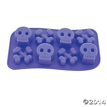 Rubber Skull And Crossbones Ice Cube Tray - 1