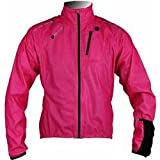 Polaris Aqualite Extreme Womens Waterproof Bike / Cycling Jacket 10 Fluo Pink