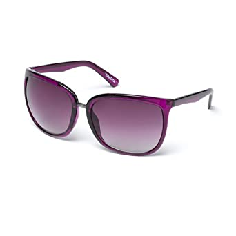 MUK Women's Dakota Sunglasses Hollyhock Frame with Smoke Lens MUK107756 One Size