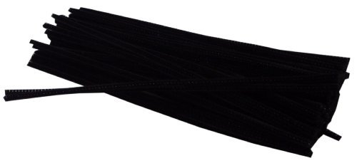 Chenille Stems 6mm Black 12 Inches 100 Pieces