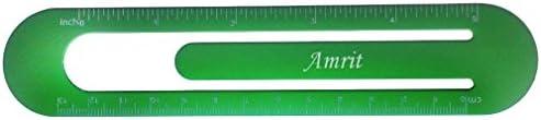 Bookmark  ruler with engraved name Amrit first namesurnamenickname