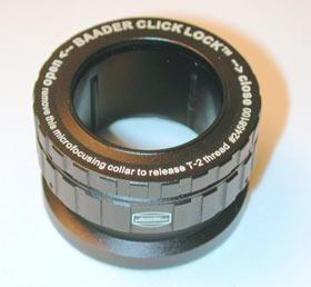 """Baader Planetarium Clicklock Eyepiece Clamp, Eyepiece Holder 1 1/4""""/ T-2, T2-08"""
