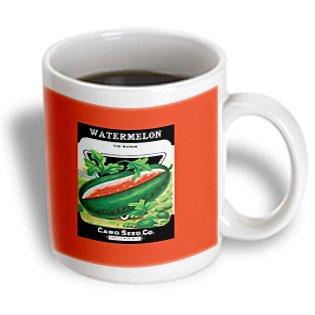 Bln Vintage Seed Packet Reproductions - Watermelon Tom Watson Vintage Seed Packet Reproduction - 15Oz Mug (Mug_170961_2)