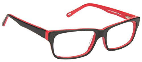 Vincent Chase VC 6466 Matte Black Red C5 Eyeglasses(102936)