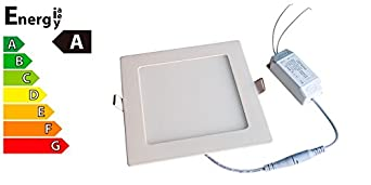 ledvero ultraslim led panel smd 2835 12 w eckig warmwei 100709ww dee717. Black Bedroom Furniture Sets. Home Design Ideas