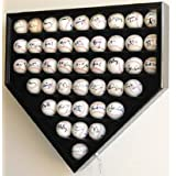 43 Baseball Display Case Cabinet Holder Wall Rack Home Plate Shaped w  UV Protection-... by sfDisplay