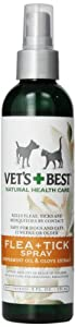 Vet's Best Natural Flea and Tick Spray, 8-Ounce