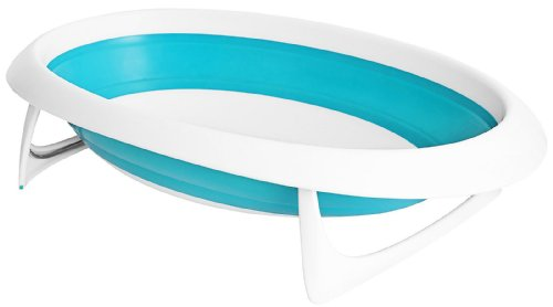 Boon Naked Collapsible Baby Bathtub, Blue/White