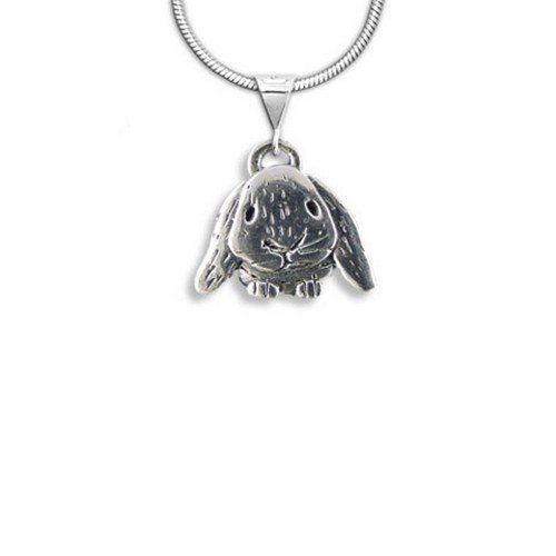Sterling Silver Lop-Eared Rabbit Pendant by The Magic Zoo