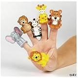 24 Safari Zoo Theme Finger Puppets