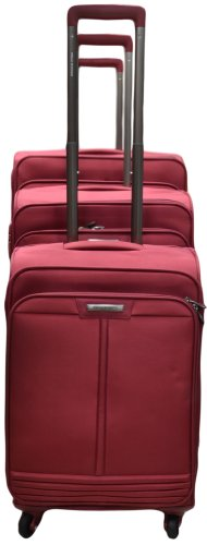 Polo Winner Maroon Trolley Bag  Set of 3  20 X 24 X 28 Inches