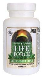 Source Naturals Life Force Vegan Multiple No Iron -- 60 Tablets