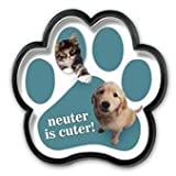 【アニマルズインク】 足跡型マグネットバッジ『避妊・去勢をすれば、もっとかわいい』Neuter is Cuter!
