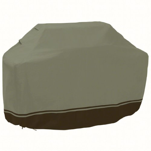 Classic Accessories Villa 55-034-053901-00 Patio BBQ Grill Cover, X-Large, In Birch With Walnut Accent