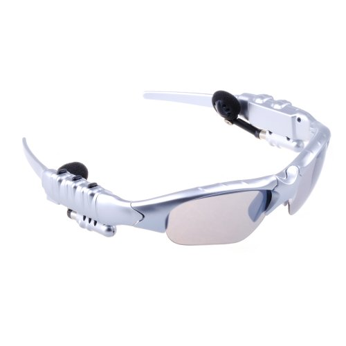 Victsing Bluetooth Headphone Sunglasses For Iphone 4 4S 5 5G Ipad 2 3 4 Ipad Mini Hands-Free Sliver