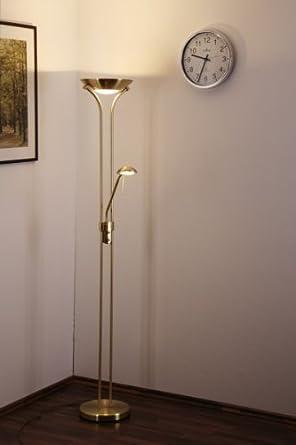 luminaire sur pied en laiton led intensit variable luminaires et eclairage. Black Bedroom Furniture Sets. Home Design Ideas