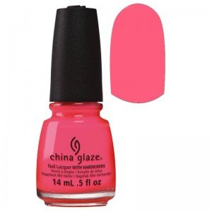 China Glaze China Glaze Electric Nights Lacquer, Red'y To Rave, 0.5 Fluid Ounce