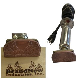 Custom Branding Iron - Electric Unit - Any Logo Or Text, Up To 4.0 Square Inches (Length X Height)