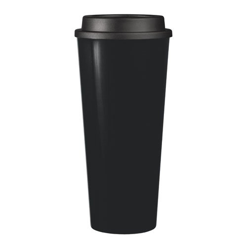 Reusable To Go Hot & Cold Beverage Tumbler - Double Wall with Sip Lid - 20oz. Capacity - Black (Microwave On The Go compare prices)