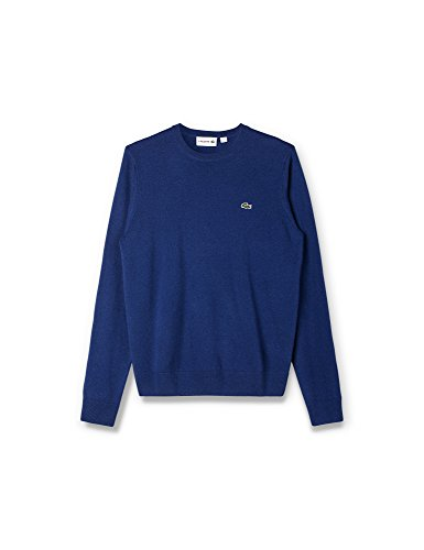 Lacoste Men's Mens' Crew Neck Wool Jersey Sweater In Size 4-M Blue