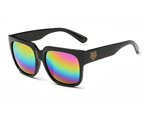 Konalla Colorful Mirrored Lens Retro Wayfarer Sunglasses 100% UV Protection C2