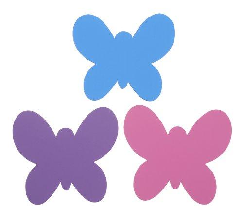 Darice Sticky Back Butterfly Shape Chalkboard, Colors Vary - 1