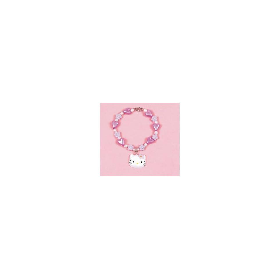 Hello Kitty Little Girls Flower Charm Bracelet