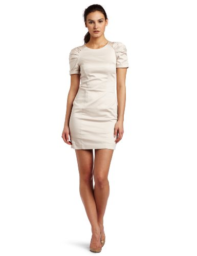 French Connection Womens Caramel Cotton Dress, White, 4