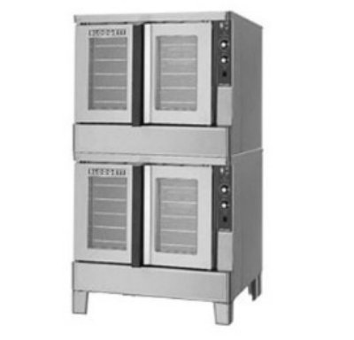Blodgett Zeph-100-Edoubl Double Full Size Electric Convection Oven - 240V/3Ph, Each