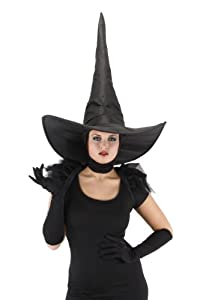 elope Wicked Witch Deluxe Hat, Black, One Size