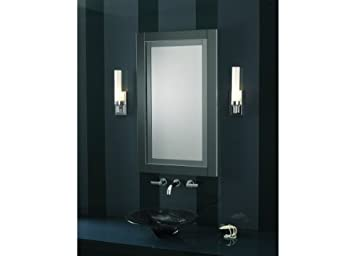 "Robern MT24D4CDGRECandre Cabinet 23-1/4""W x 30""H x 3-3/4""D, Right Hinge with Electric, Tinted Gray Mirror Frame"