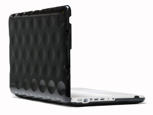 Hard Candy Cases Bubble Shell Case for Apple MacBook 13-inch, Black, (BS-MAC13-BLK)