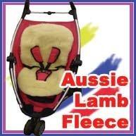 Maxtto Childcare Lammfell für Kinderwagen, Autositz, mit Fleece gefüttert, Größe L, neutrale Farbe
