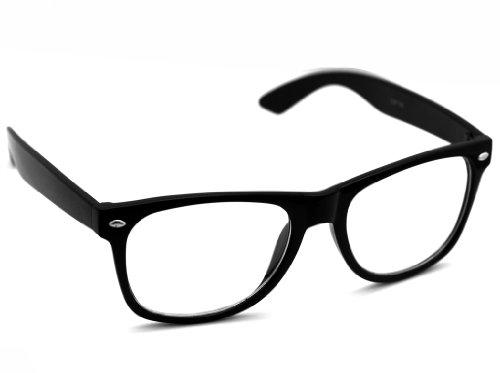 oramics schwarze retro wayfarer sonnenbrille nerd brille. Black Bedroom Furniture Sets. Home Design Ideas