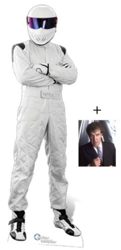 "Fan Pack - The Stig - LIFESIZE CARDBOARD CUTOUT / STANDEE / STANDUP (Height 182cm) - Official BBC Top Gear - INCLUDES 8x10"" (25x20cm) STAR PHOTO - FAN PACK #48"