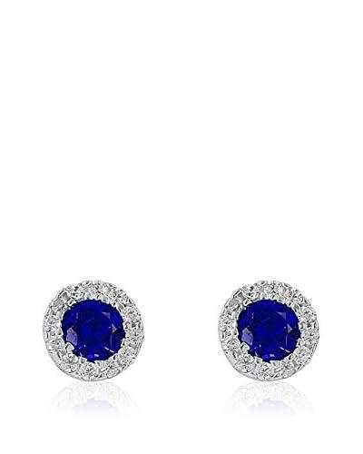 Chicstyle Pendientes Douceur Plata / Azul Royal