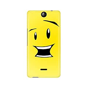 Motivatebox -Micromax Canvas Juice 3 Q392 Back Cover - smiley Polycarbonate 3D Hard case protective back cover. Premium Quality designer Printed 3D Matte finish hard case back cover.